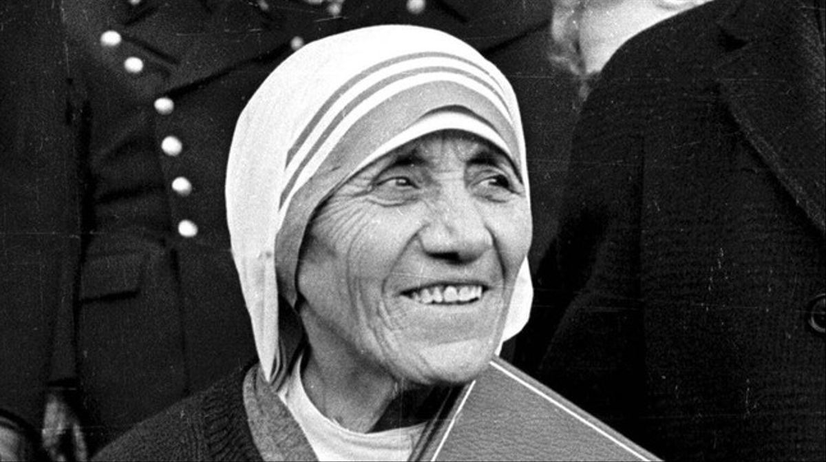 La madre Teresa de Calcuta, tras recibir el Nobel de la Paz en 1979.