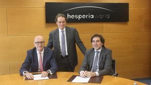 Jesús Nuno de la Rosa, Jordi Ferrer y Gonzalo Alcaraz