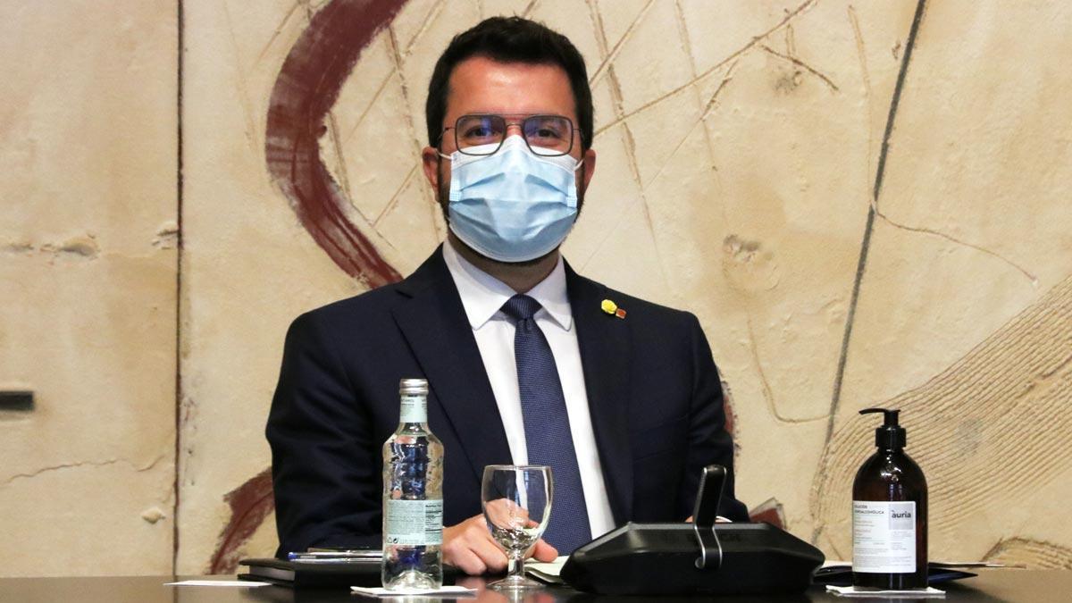 Pere Aragonès, durante la reunión del Consell Executiu del 6 de julio de 2021.