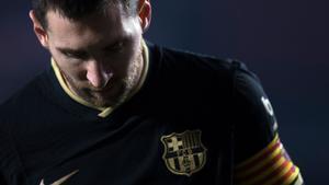 Messi, en el Nuevo Los Cármenes durante el Granada-Barça, en la Copa del Rey.