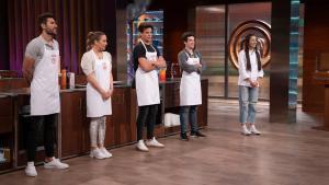 Iván, Luna, Alberto, Andy y Ana, en la final de 'Masterchef 8'.