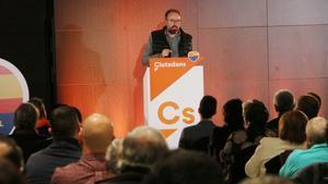 El diputado de C's en el Congreso Juan Carlos Girauta, este jueves, en un hotel de Mataró.