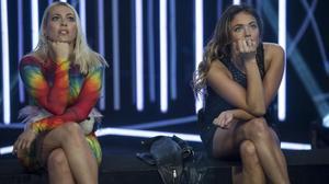 Daniela BlumeyAlyson Eckmann, finalistas de la quinta edición del 'reality show' de Tele 5 'Gran hermano VIP'.