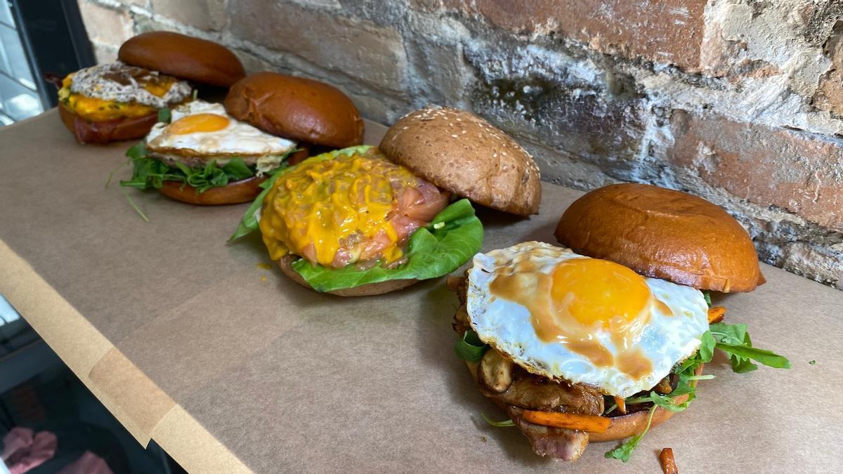 Bocadillos de huevo de The Egg Lab Street.
