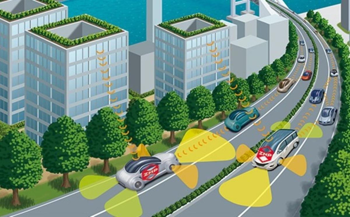 Imagen virtual de la tecnología de taxis robot de la firma de Japón ZMP.