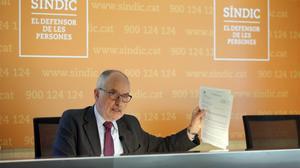 El Síndic denuncia davant organismes europeus la vulneració de llibertats davant l'1-O