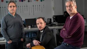 José Antonio de Luna, Jaume Ripoll y Juan Carlos Tous, en Filmin.