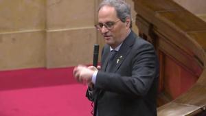 El president Torra pide que Cs, PSC i CatECP reclamen al Estado 4.000 millones de euros.
