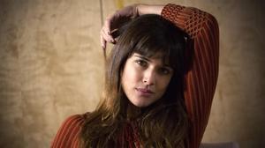 Adriana Ugarte, durante la entrevista,en el HotelLas Letras de Madrid.