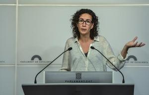 Marta Rovira, en el Parlament.