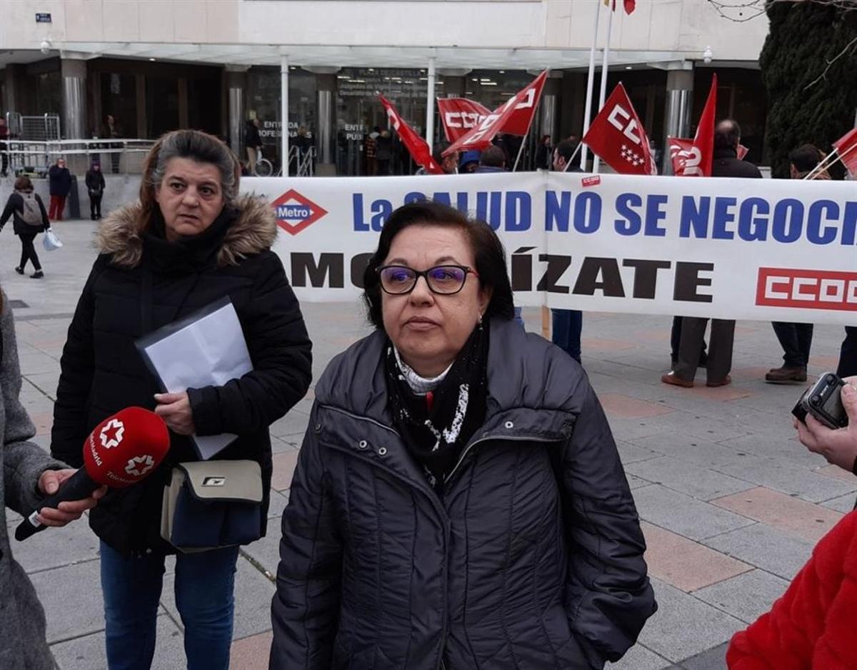 Eugenia Martín, viuda de una víctima de amianto de Metro de Madrid.