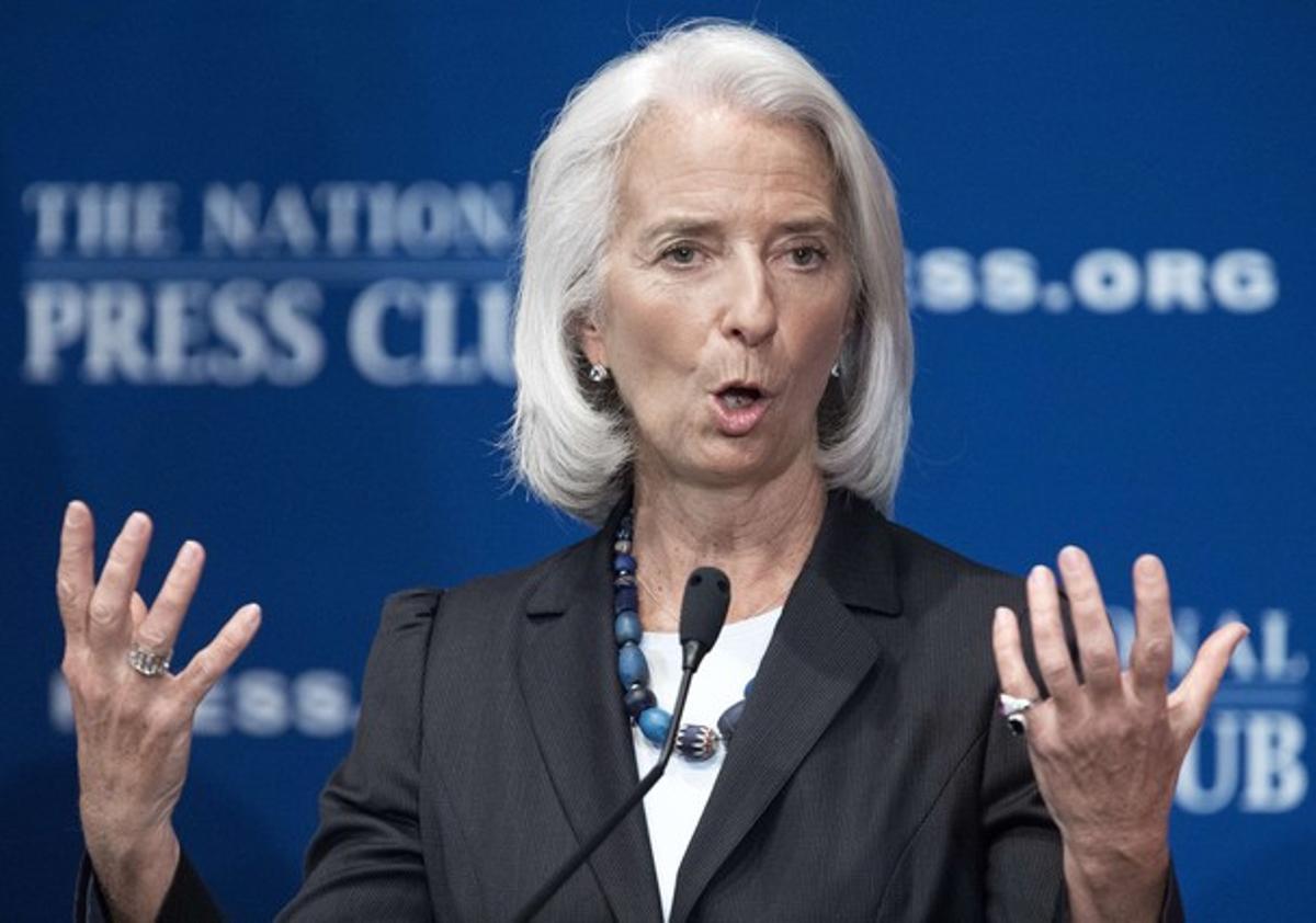 La directora gerente del FMI, Christine Lagarde , el pasado junio.