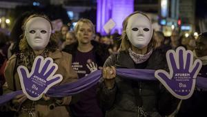 Movilización feminista en València.