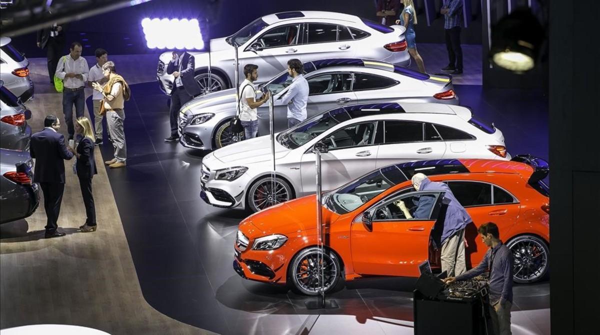 Un aspecto del Salón Automobile en su jornada inaugural.
