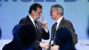 Mariano Rajoy y Antón Costas, en las jornadas de Sitges del Cercle d'Economia del pasado mes de mayo.