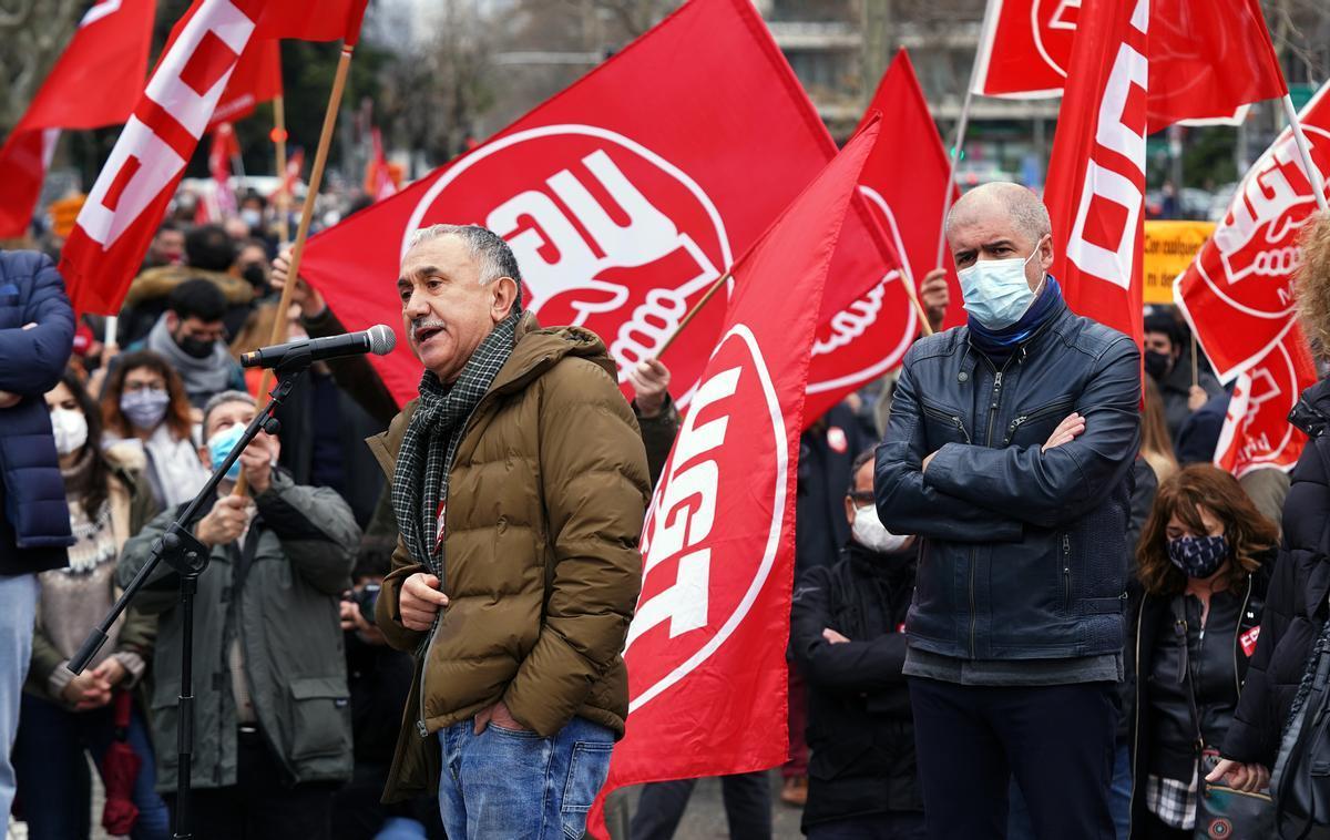 CCOO i la UGT urgeixen el Govern central  a derogar la reforma laboral: «O hi ha BOE o les mobilitzacions només han fet que començar»