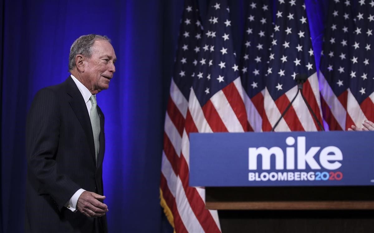 Bloomberg, aspirante demócrata a la presidencia de EEUU.