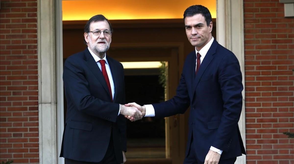 Rajoy y Sánchez, el pasado 23 de diciembre en la Moncloa.