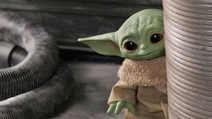 Baby Yoda, en un fotograma de 'The Mandalorian'.