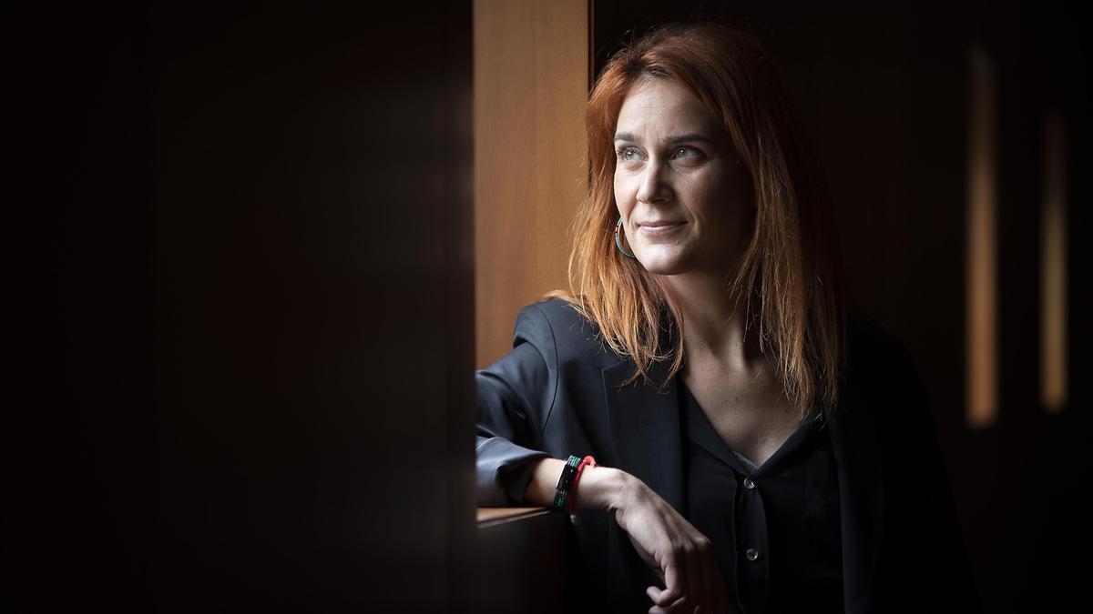 Jéssica Albiach, presidenta del grupo parlamentario En Comú Podem en el Parlament de Catalunya.