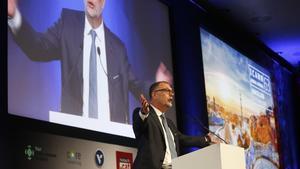 Goran Marby, en su intervención en el congreso del ICANN en Barcelona.