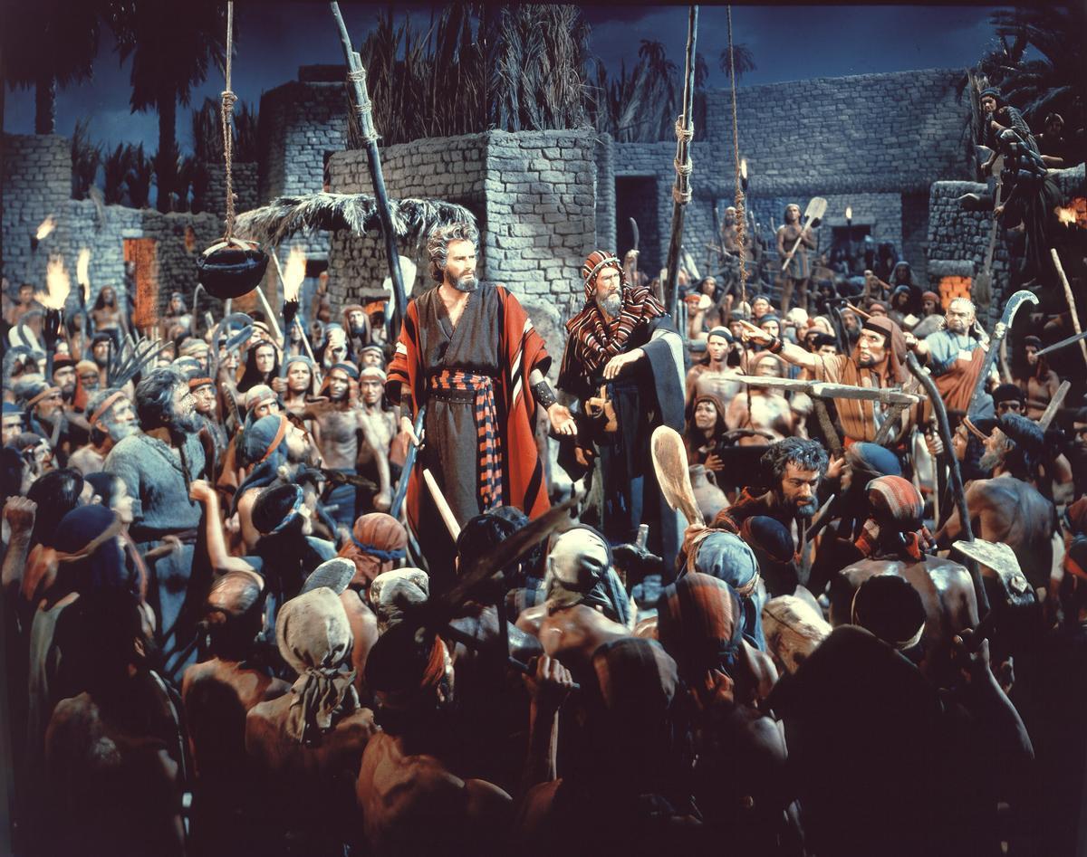 Escena de 'Los diez mandamientos'