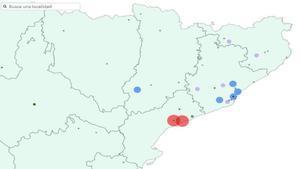 Zonas de Catalunya donde ha tocado la Lotería de Navidad 2020.