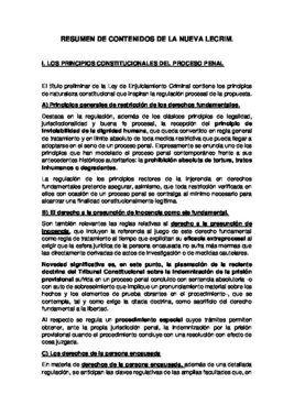 Resumen de los contenidos de la nueva Ley de Enjuiciamiento Criminal (LECrim) que prepara el Gobierno.