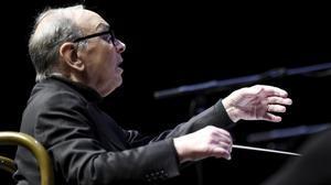 Ennio Morricone, durante un reciente concierto en Helsinki.