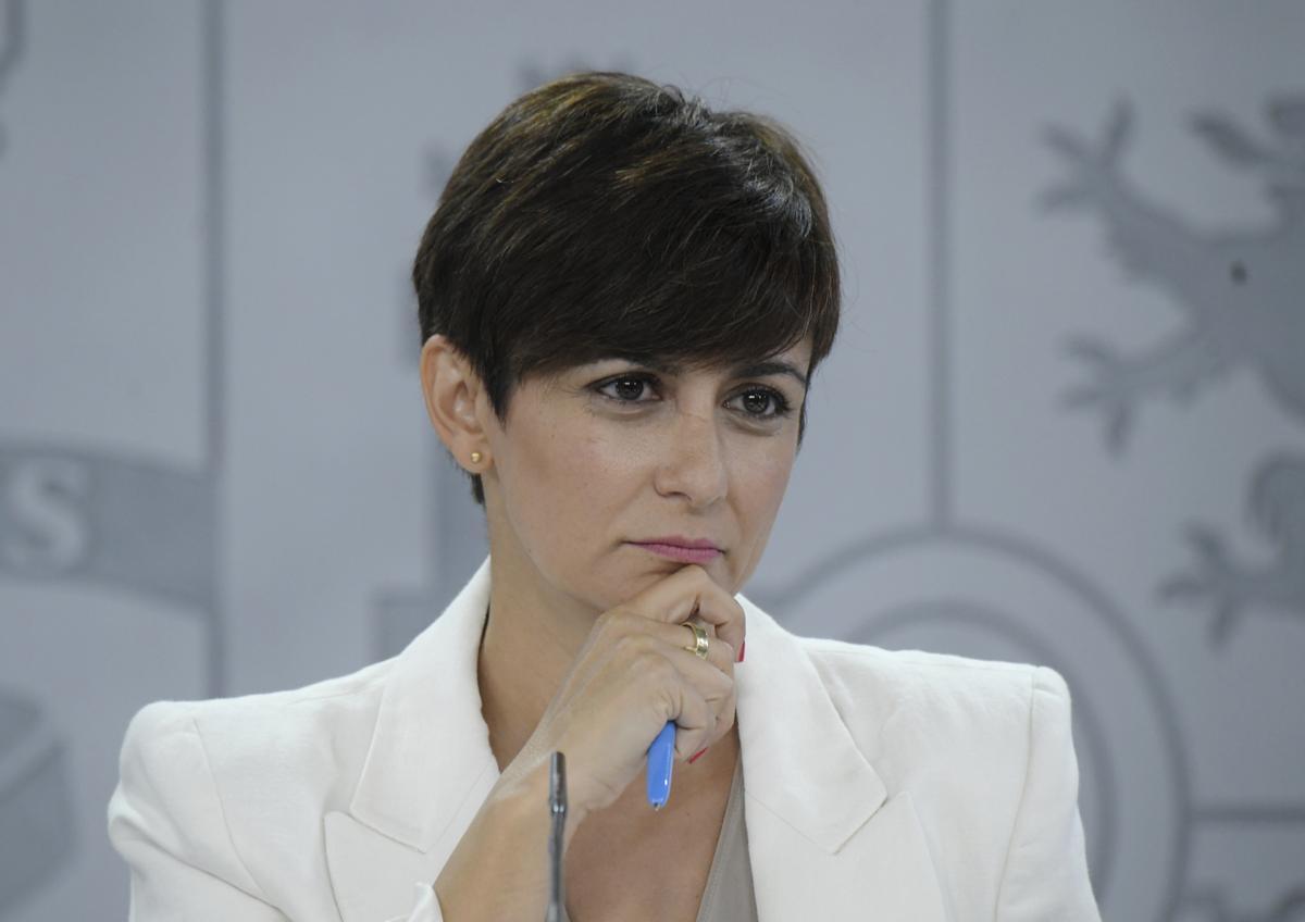 Isabel Rodríguez, este martes, durante la rueda de prensa tras el Consejo de Ministros.