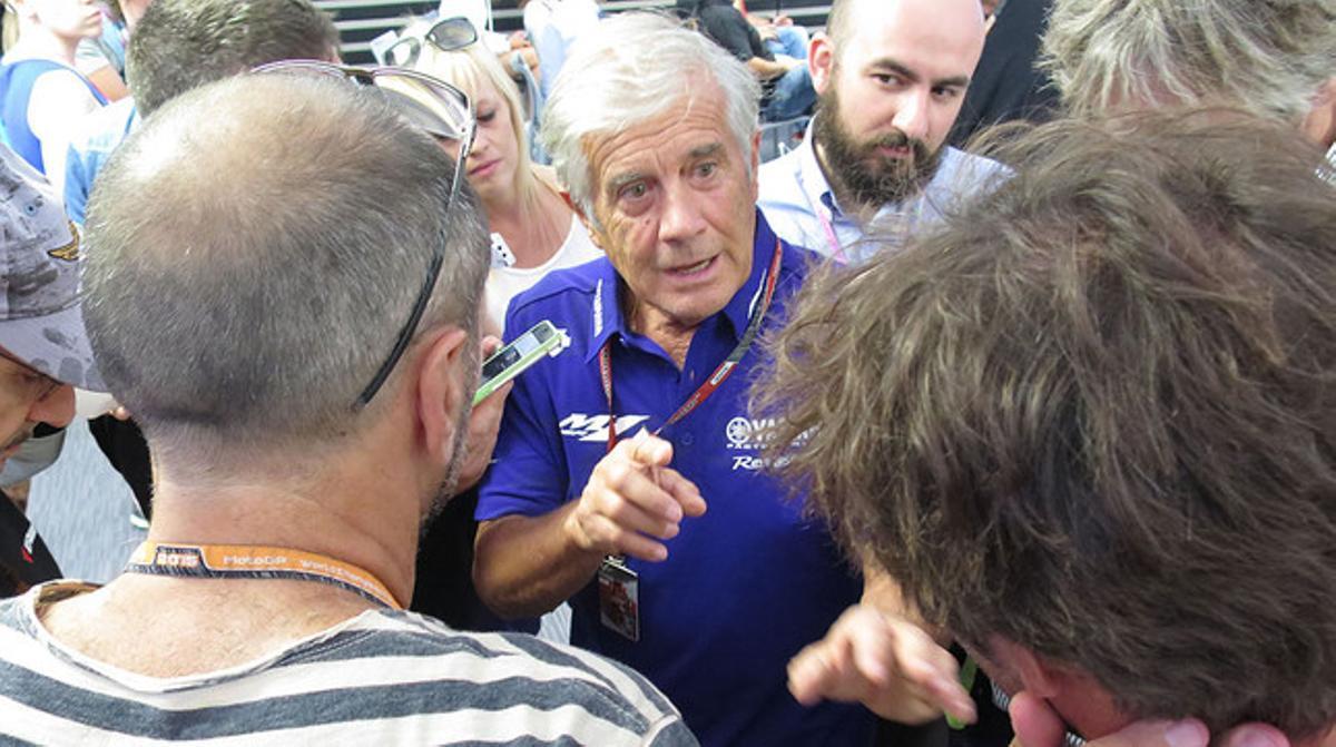 El mítico piloto Giacomo Agostini, en Misano.