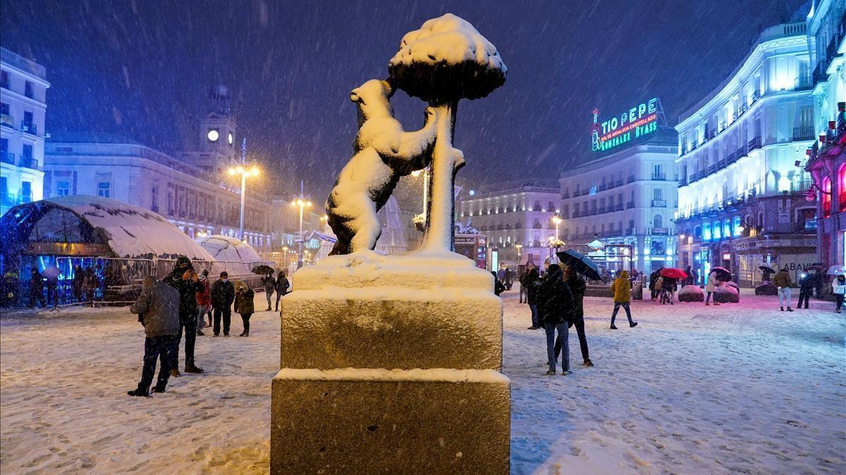 El Oso y El Madroño, en la Puerta del Sol.