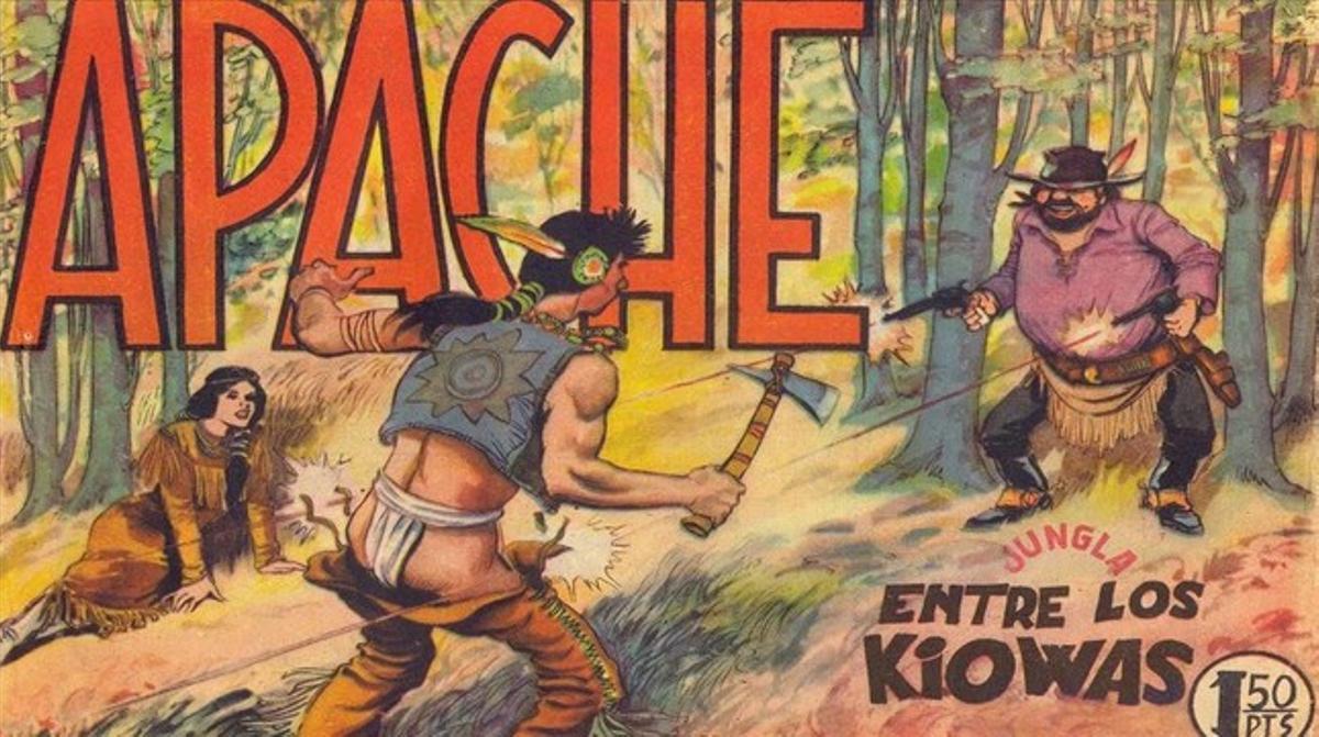 Portada de la serie 'Apache', del desaparecido Luis Bermejo, al que el Salón del Cómic recordará en una exposición.