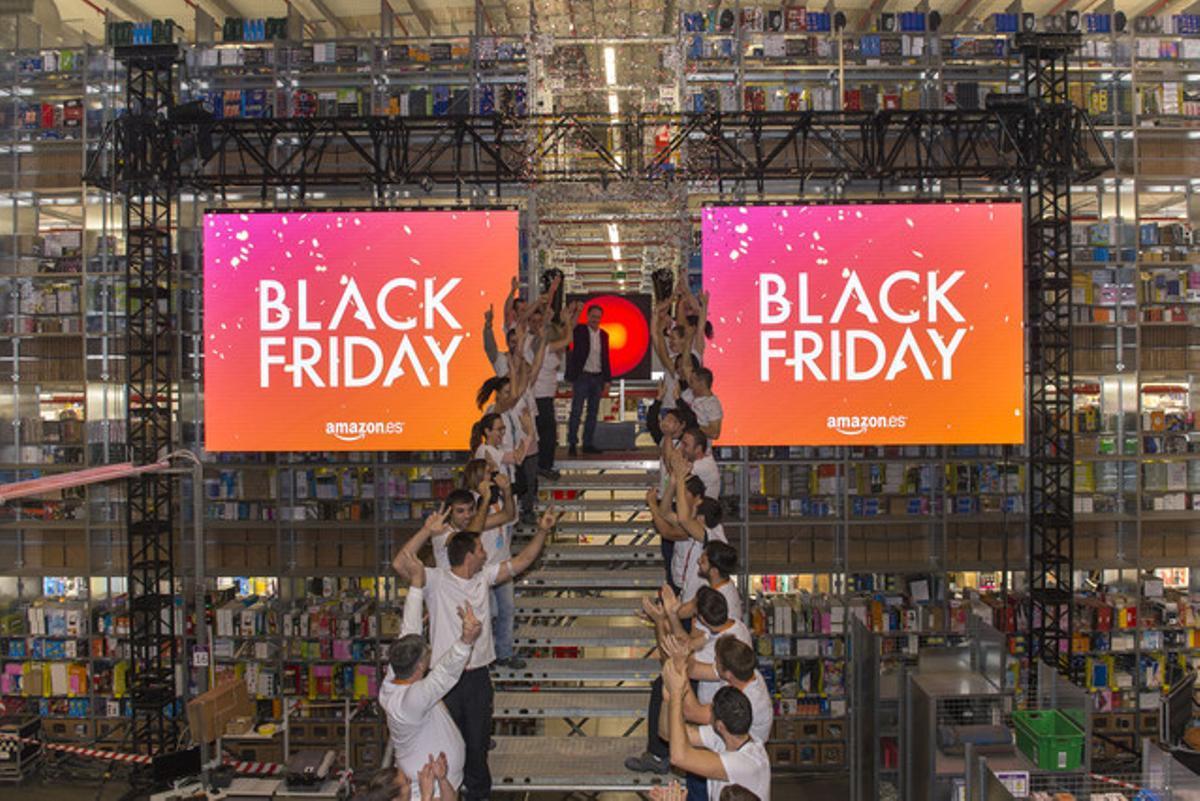 Momento en que Amazon.es activó las ofertas de Black Friday.