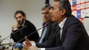 Sergio Scariolo, en una reciente rueda de prensa