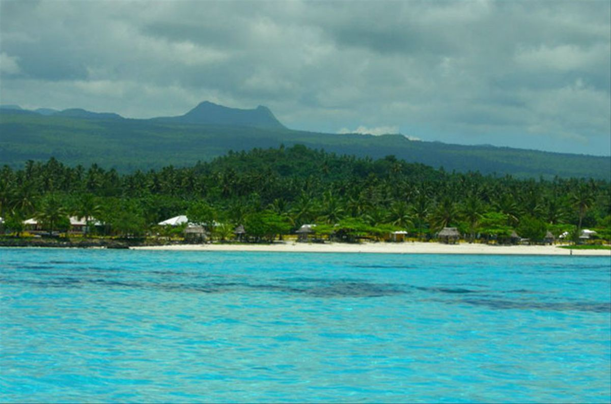 Una playa de Samoa.