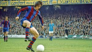 Johan Cruyff durante la temporada 1973-1974.
