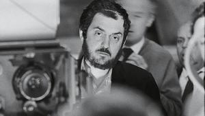 Stanley Kubrick, en uno de sus rodajes.