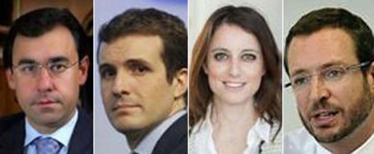 Fernando Martínez Maíllo, Pablo Casado, Andrea Levy y Javier Maroto.