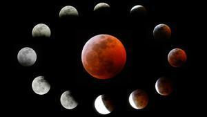Así se ha visto la 'superluna' de sangre.