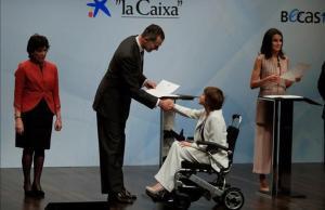 Entrega de becas de La Caixa, el pasado mayo, en un acto presidido por los reyes Felipe y Letizia