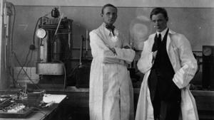 Baltzar von Platen y Carl Munters, inventores de la nevera eléctrica.