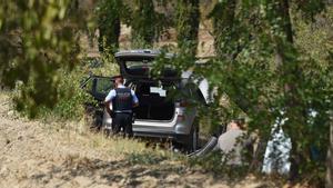 El lugar donde se han hallado muertos una mujer y un hombre en Sant Vicenç de Castellet.