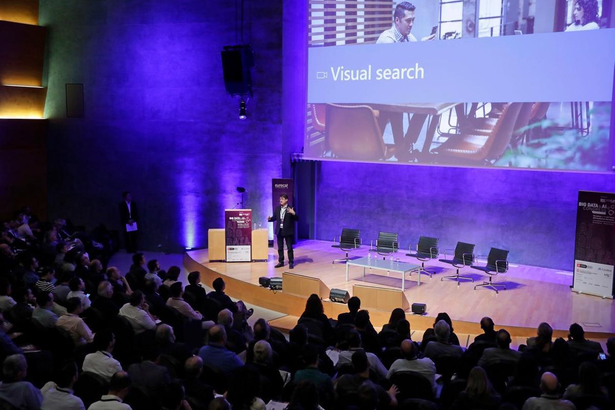 Jordi Ribas, vicepresidente de Inteligencia Artificial de Microsoft en el Big Data & AI Congress organizado por Eurecat.