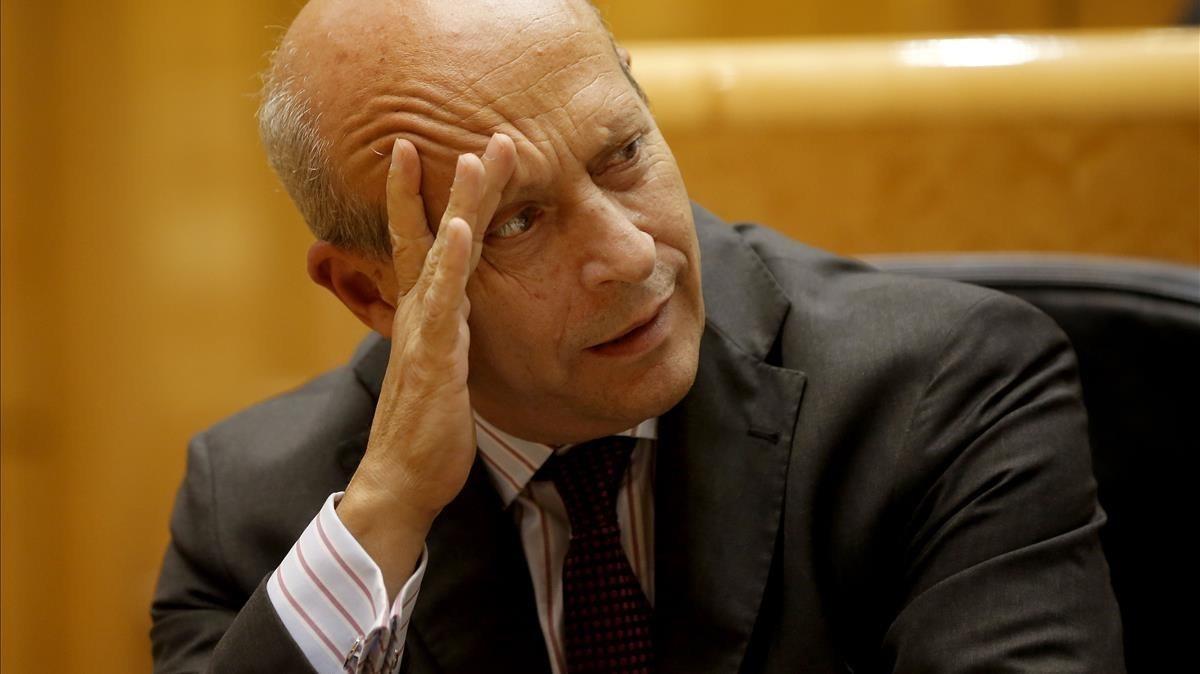 El entonces ministro de Educación, José Ignacio Wert, durante una sesión de control en el Senado, en septiembre del 2014.