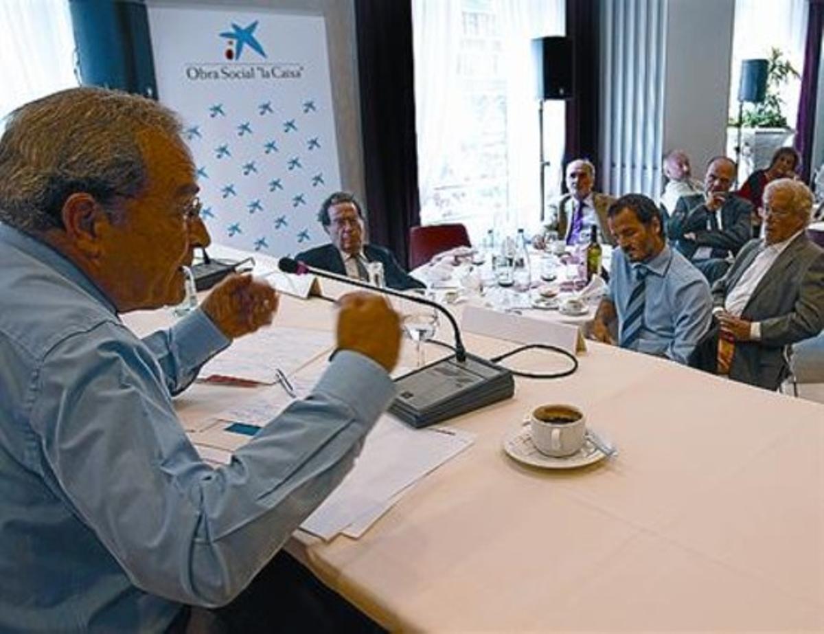 Jaume Lanaspa, ayer durante la conferencia en el ciclo Tribuna Ateneu.