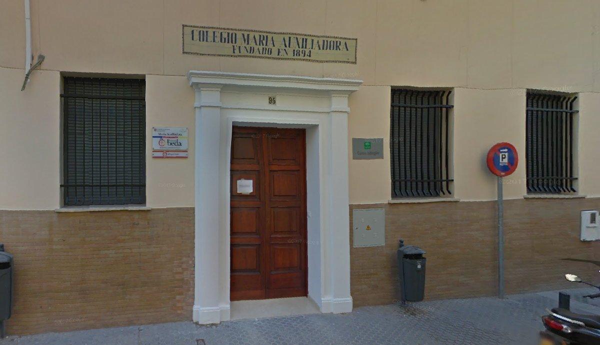 El colegio María Auxiliadora, en Sevilla.
