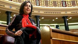 La portavoz del PSOE, Margarita Robles,en el Congreso.