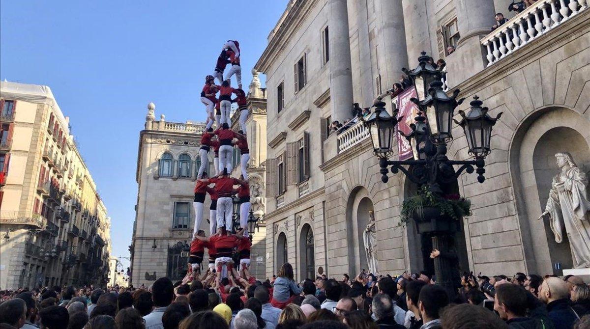 Jornada 'castellera' de Santa Eulàlia, celebrada este domingo.