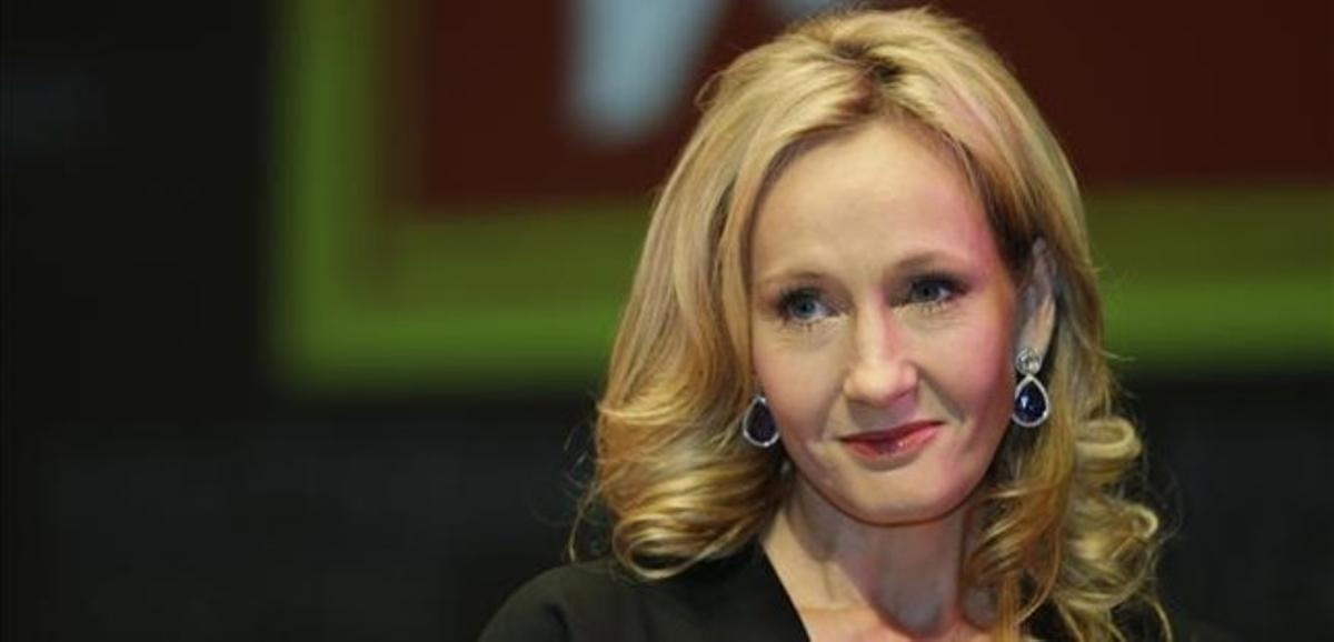 J. K. Rowling, durante la presentación de 'La vacante imprevista'.